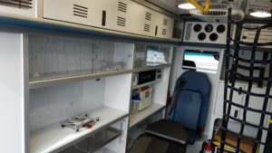 Auxiliary 120V HVAC combo & Technimount monitor mount