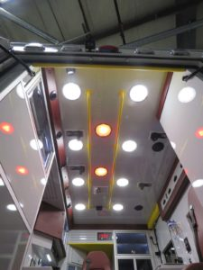 Additional red lighting for night transports